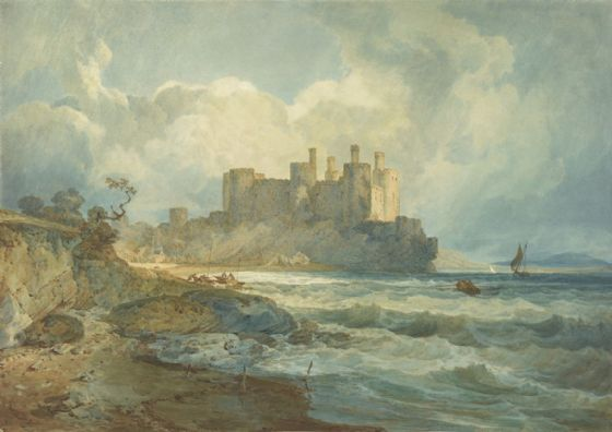 Turner, Joseph Mallord William: Conway Castle, North Wales. Fine Art Print/Poster. Sizes: A1/A2/A3/A4 (004150)